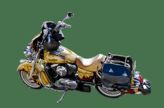 moto customisée à l'aérographe
