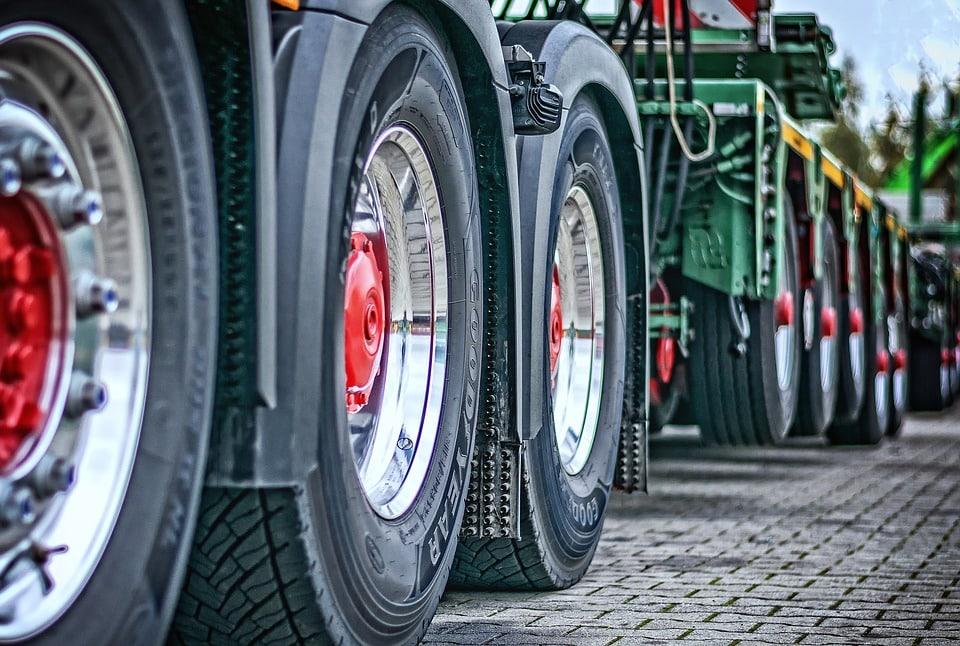 roue d'un camion