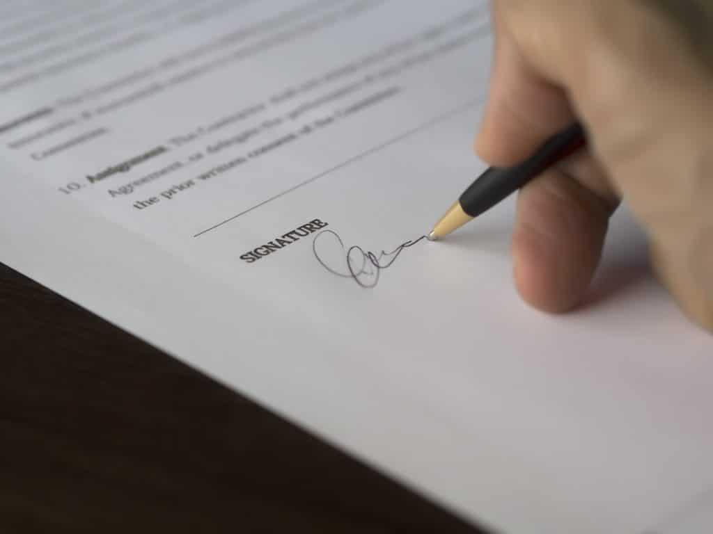 Papier signature, paperasse